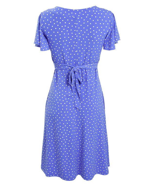Cornflower blue Va Va Voom nursing dress by Peachymama - 5