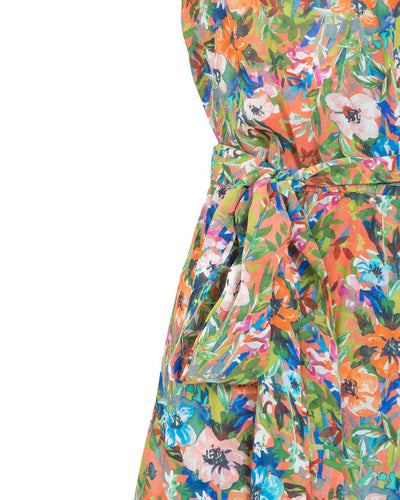 Peachymama Peach Floral Nursing Dress - back detail