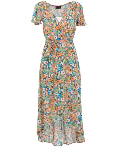 Peach Floral Nursing Dress by Peachymama