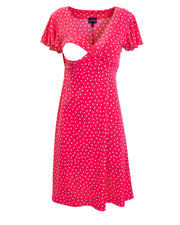 Raspberry Va Va Voom breastfeeding dress - opening