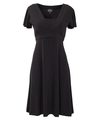 Basic Black Va Va Voom Nursing Dress