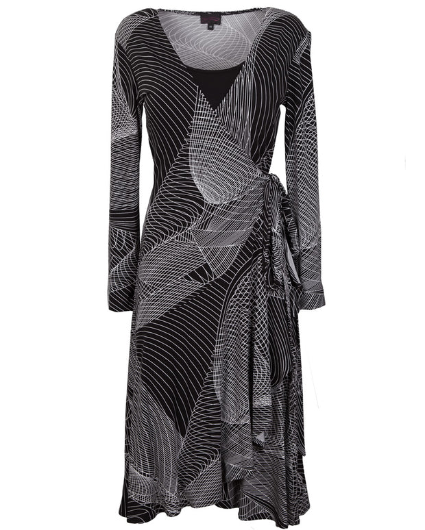 Printed wrap breastfeeding dress