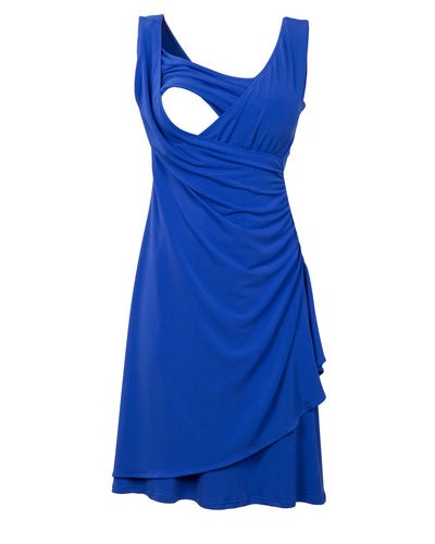 blue-gathered-wrap-breastfeeding-dress-opening