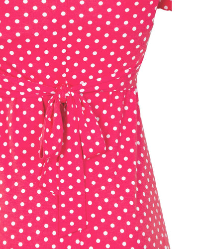 Raspberry Va Va Voom breastfeeding dress - back