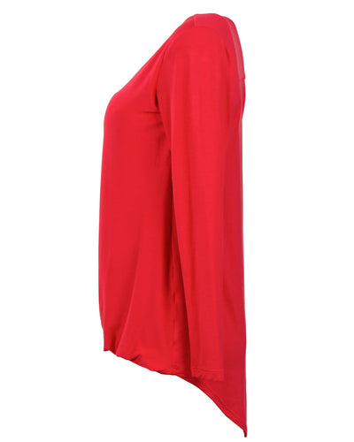 Red Twist Nursing Top by Peachymama Australia - Side