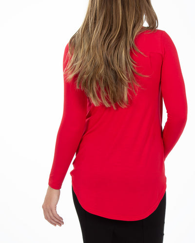 Red Twist Nursing Top by Peachymama Australia - Back