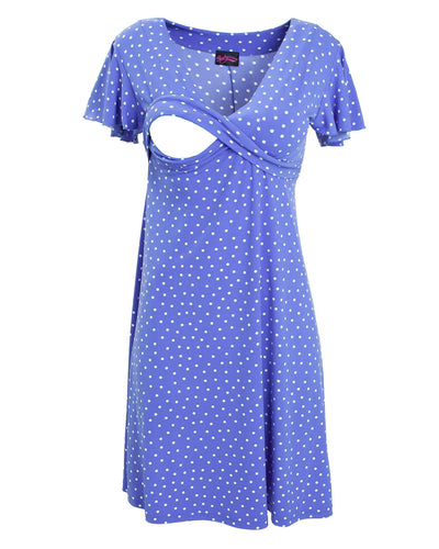 Cornflower blue Va Va Voom nursing dress by Peachymama - 4