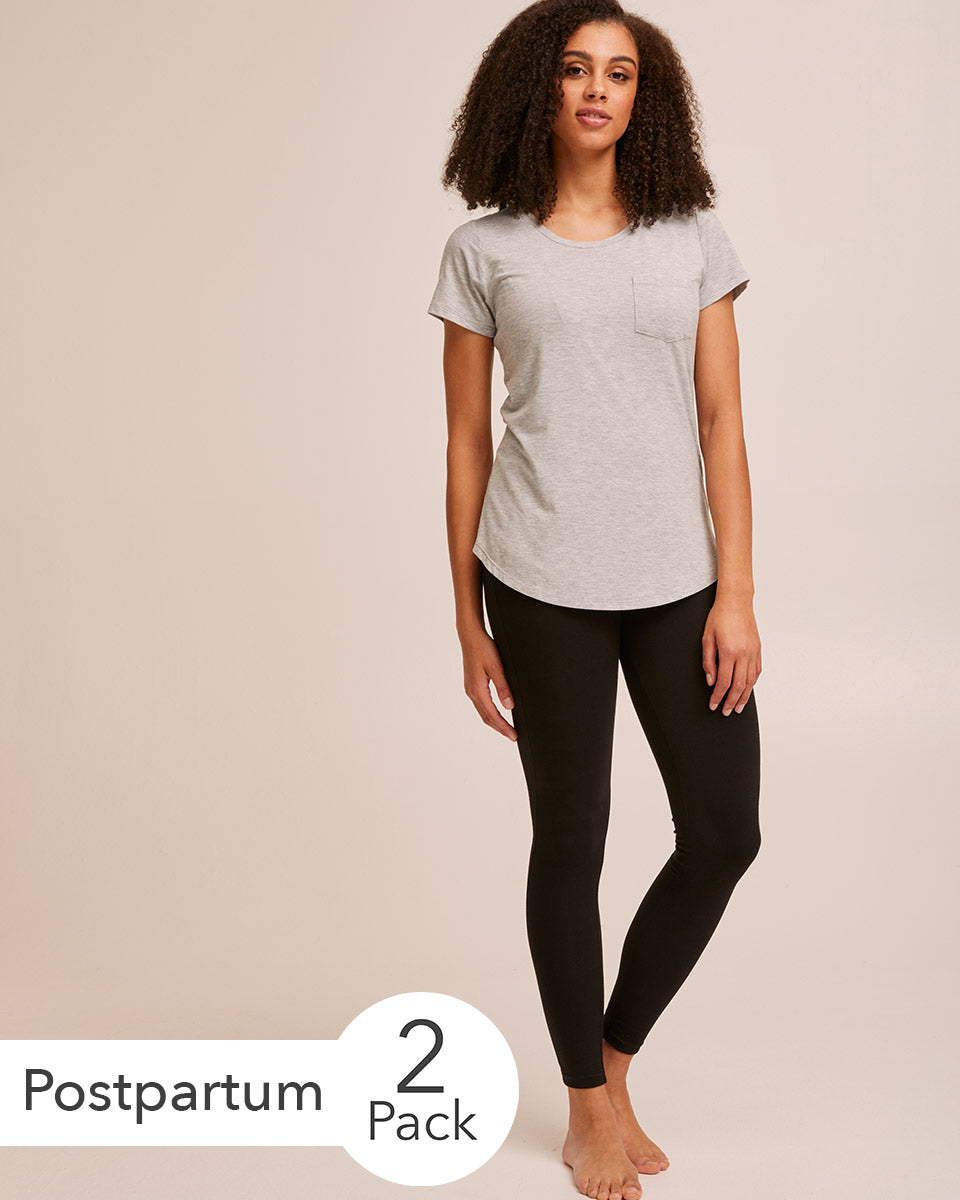 Organic Postpartum Leggings & Nursing Tee Bundle