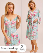 Nursing Nightie & Robe Bundle