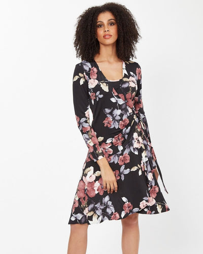 Floral Wrap Nursing Dress from Peachymama - 1