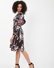 Floral Wrap Nursing Dress from Peachymama - 2
