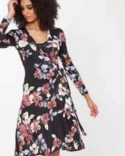 Floral Wrap Nursing Dress