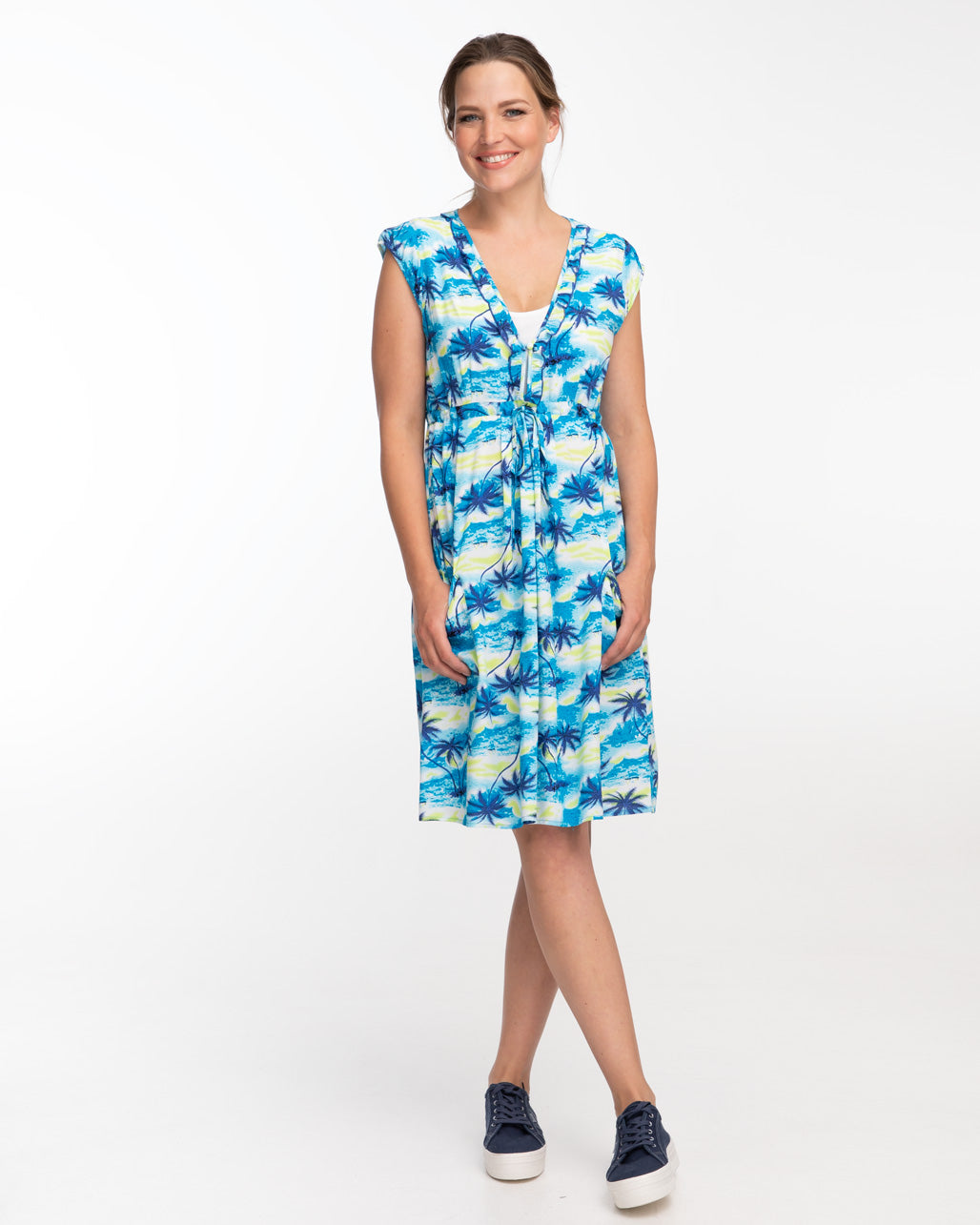 Hawaiian Print Nursing Dress by Peachymama