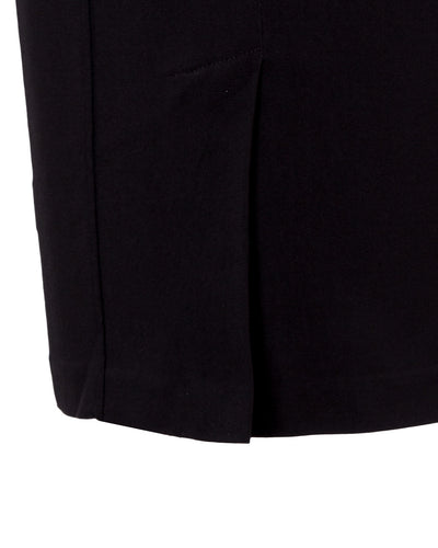 Black high waisted stretch skirt showing back detail