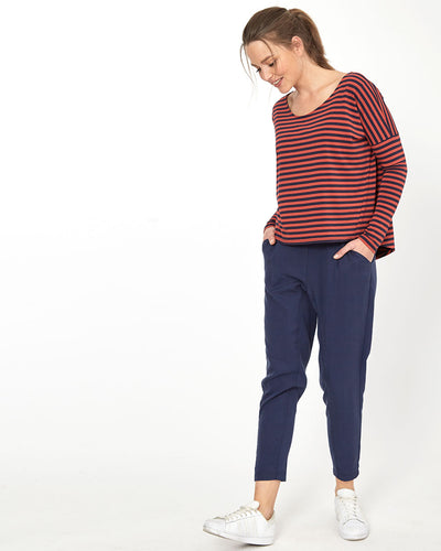 Drop Crotch Pants - Navy from Peachymama - 2