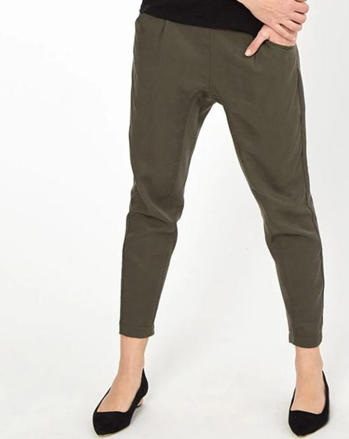 Drop Crotch Pants - Khaki from Peachymama - 1