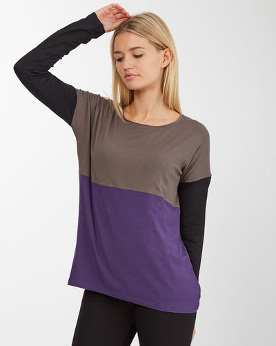 Breastfeeding Jumper - Purple - Front 2