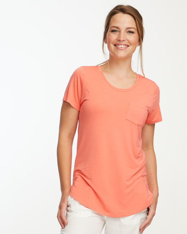 Peach bamboo nursing tee by Peachymama 1
