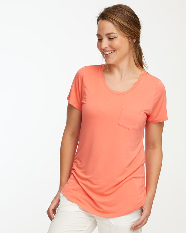 Peach bamboo nursing tee by Peachymama 2