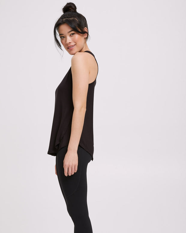 Active Curve Hem Nursing Tank - Black - Peachymama - 6