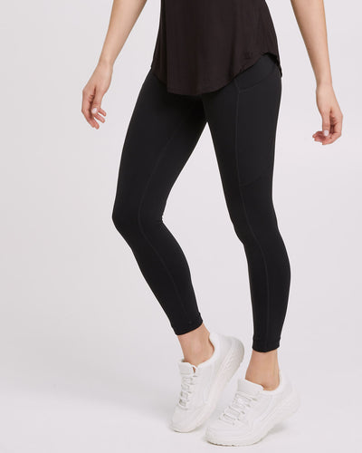 Peachymama Postpartum Activewear Pocket Pants - Black - 1