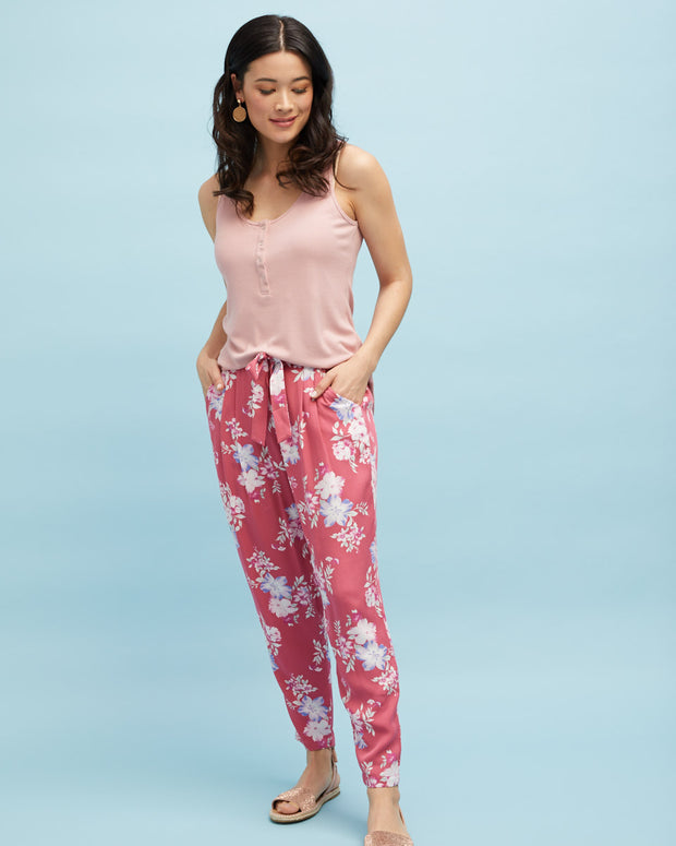 Harem Postpartum Pants - Deep Rose - Peachymama - 5