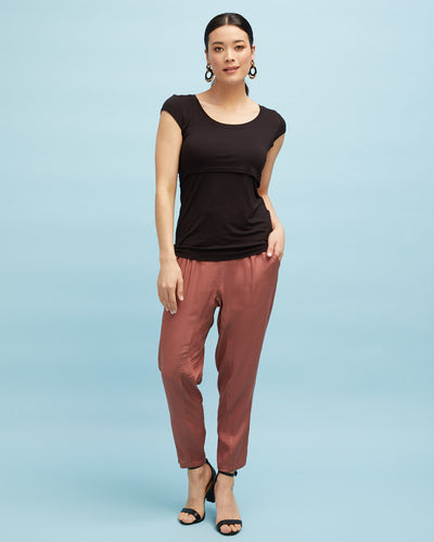 Smart Postpartum Pant - Wood Rose - Peachymama - 5