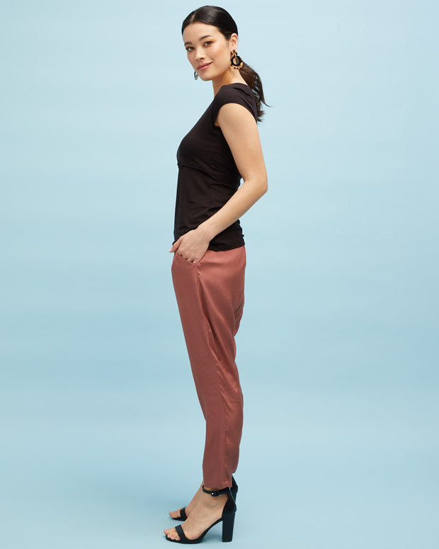 Smart Postpartum Pant - Wood Rose - Peachymama - 4