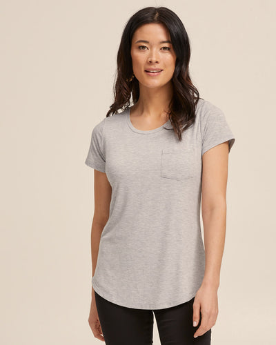 Grey nursing tank top by Peachymama 1