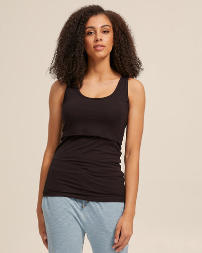 Black Bamboo Nursing Tank