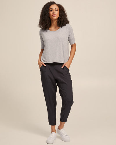 Smart Postpartum Pants - Washed Black - Peachymama - 5