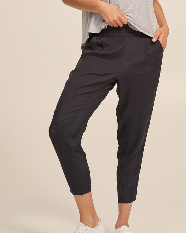 Smart Postpartum Pants - Washed Black - Peachymama - 6