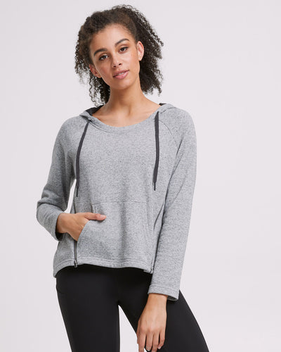 Zip Up Nursing Hoodie - Grey - Peachymama - 1