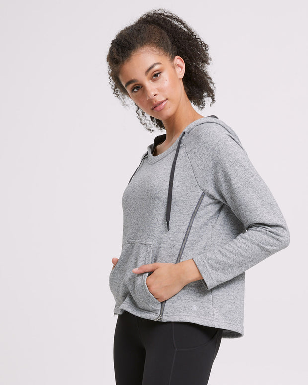 Zip Up Nursing Hoodie - Grey - Peachymama - 5