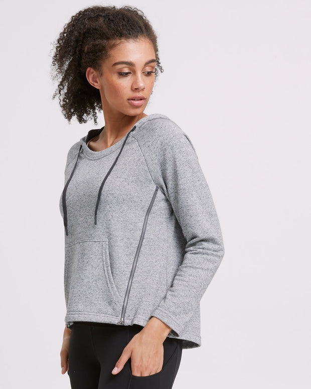 Zip Up Nursing Hoodie - Grey - Peachymama - 6