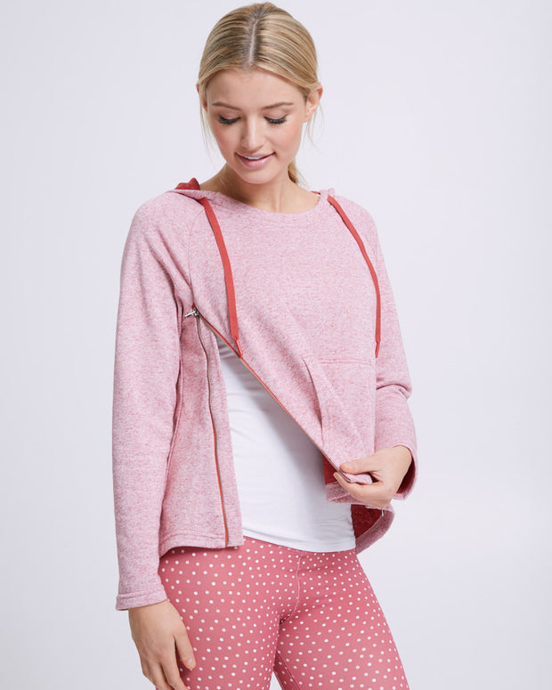 Zip Up Nursing Hoodie - Rosetta - Peachymama - 2