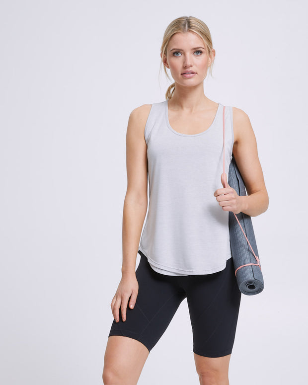 Active Curve Hem Nursing Tank - Grey - Peachymama - 3