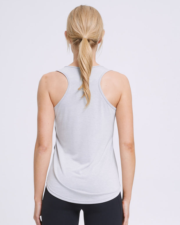 Active Curve Hem Nursing Tank - Grey - Peachymama - 4
