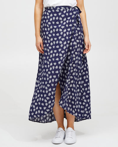 Wrap Skirt - Navy Floral