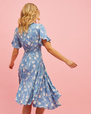 Midi Nursing Dress - Blue Floral - Peachymama - 5
