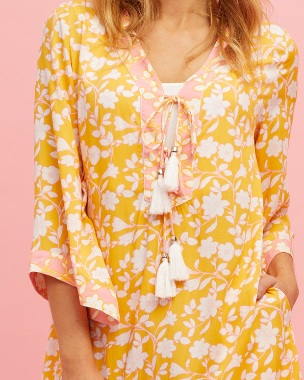 Tunic Nursing Dress - Golden Yellow - Peachymama - 4