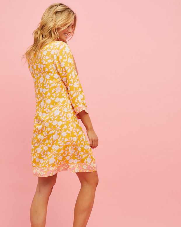 Tunic Nursing Dress - Golden Yellow - Peachymama - 6