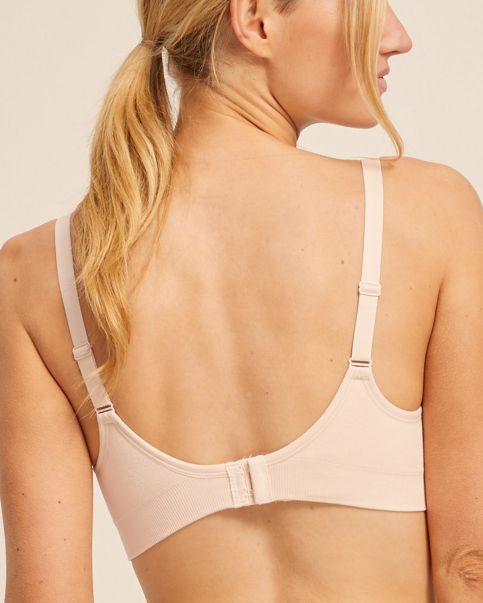 Nursing Bra - Seamfree - Blush - Peachymama Australia 1