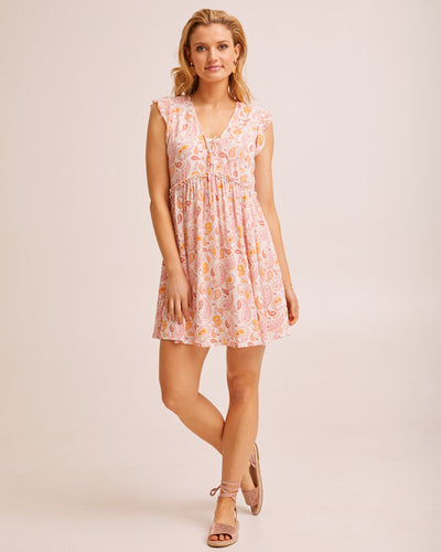 Tie Front Nursing Dress - Paisley