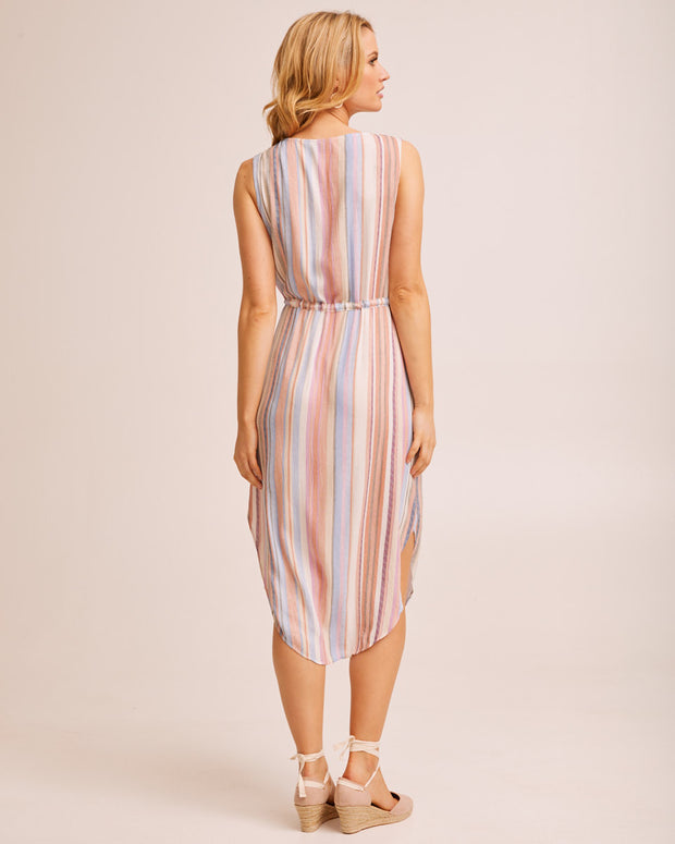 Light Stripe Nursing Dress by Peachymama Australia 3
