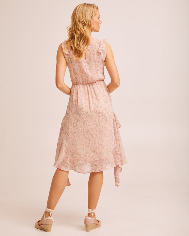 Sheer Ruffle Nursing Dress - Blush Floral by Peachymama Australia 3