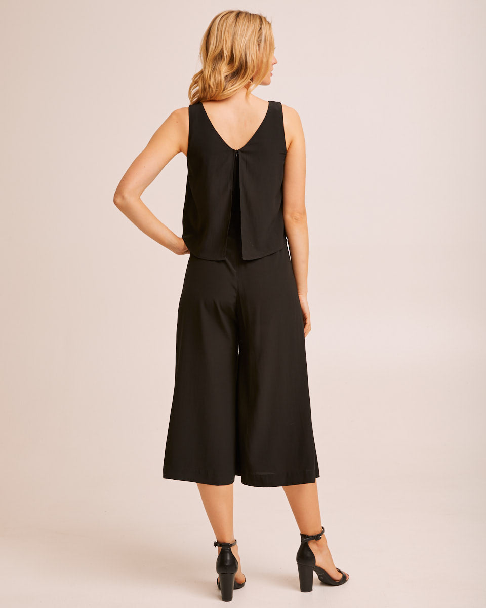 Breastfeeding Jumpsuit - Black by Peachymama Australia 3