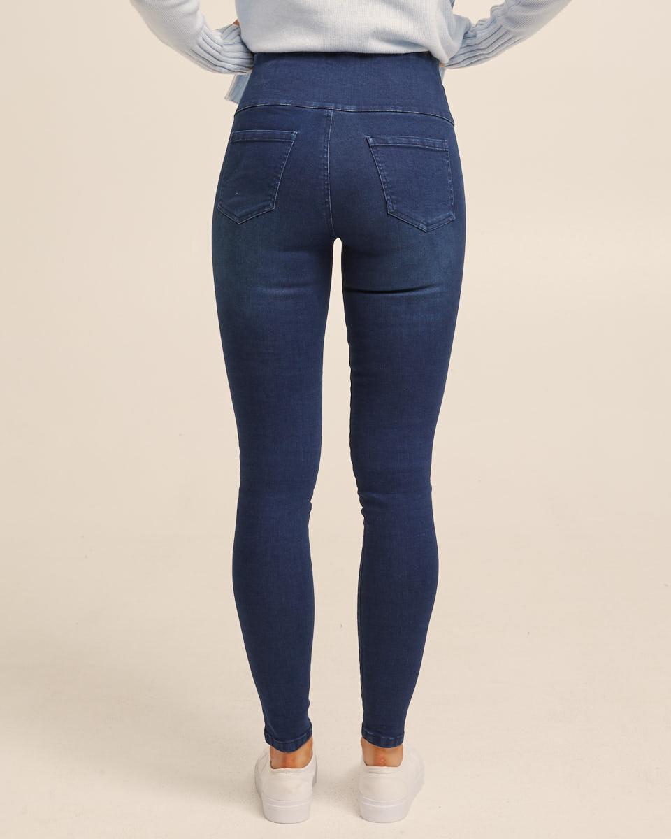 Postpartum Pants Denim Jeans Blue 6