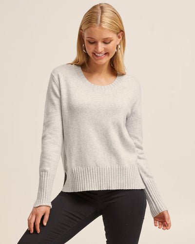 Nursing Knit Sweater - Light Grey