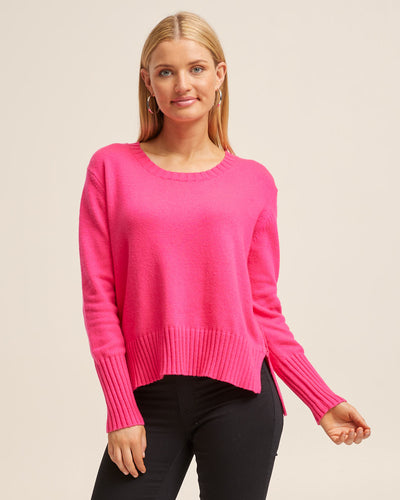 Nursing Knit Sweater - Hot Pink